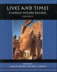 9780314059451: Lives and Times: A World History Reader (Volume II)