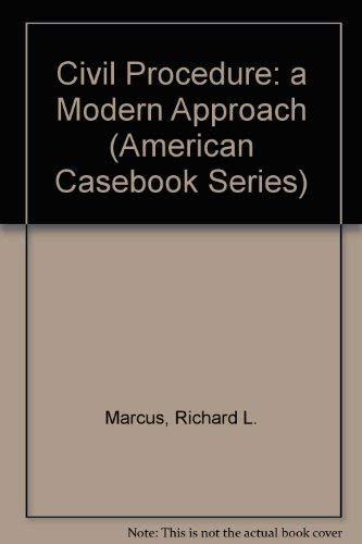 9780314061058: Civil Procedure: A Modern Approach (American Casebook Series)