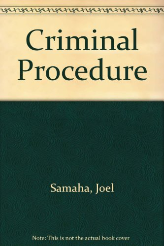 9780314061188: Criminal Procedure
