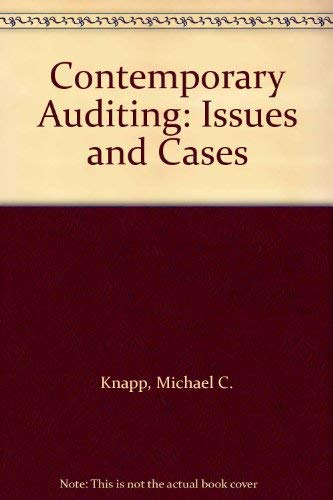 9780314061218: Contemporary Auditing: Issues and Cases