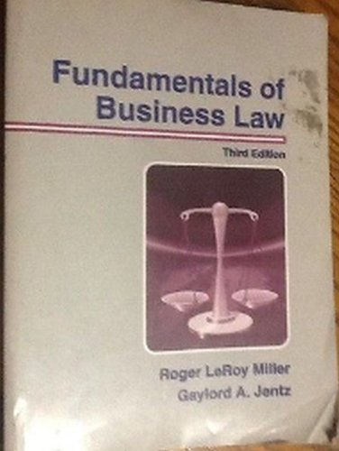 9780314061485: Fundamentals of Business Law