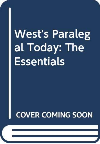 9780314061515: West's Paralegal Today: The Essentials