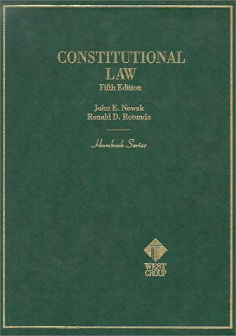 9780314061751: Constitutional Law (Hornbook Series Student Edition)
