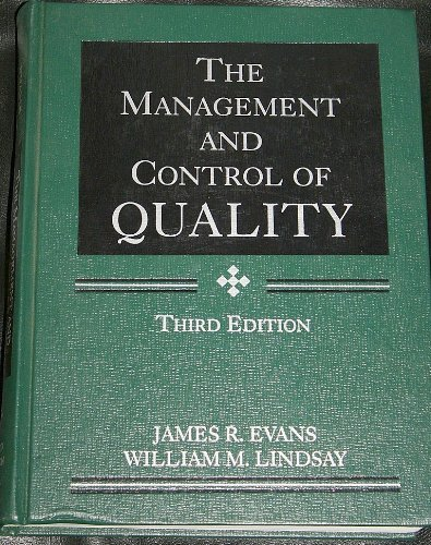 9780314062154: The Management and Control of Quality