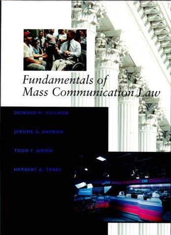 9780314062383: Fundamentals of Mass Communication Law