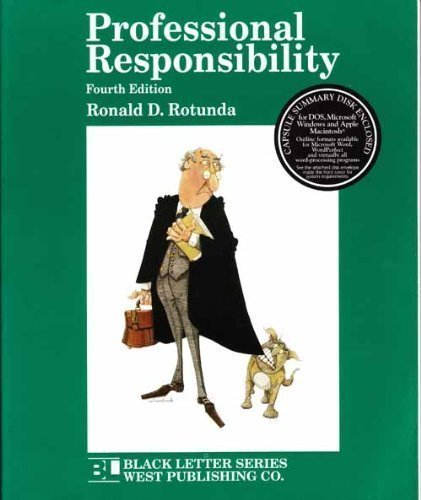 9780314064691: Professional Responsibility (4th Ed) (Black Letter Series)