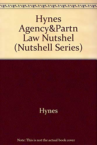 9780314065476: Agency, Partnership, and the Llc in a Nutshell (Nutshell Series)
