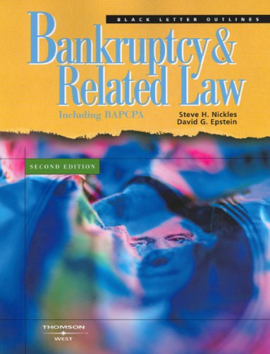 9780314065797: Black Letter Outline on Bankruptcy and Related Law (Black Letter Outlines)