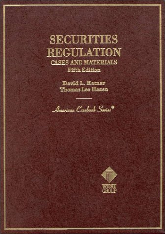 9780314066558: Securities Regulation: Cases and Materials (5th ed (American Casebook Series))
