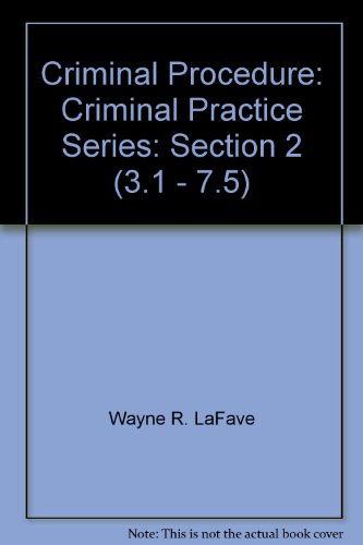 9780314066695: Criminal Procedure: Criminal Practice Series: Section 2 (3.1 - 7.5)
