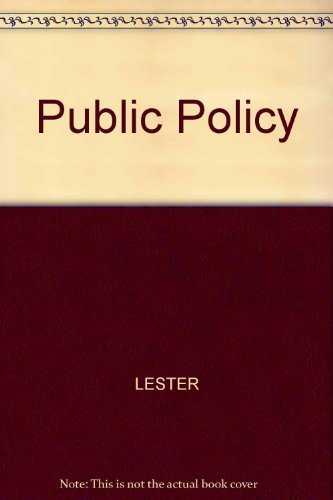 9780314067500: Public Policy: An Evolutionary Approach