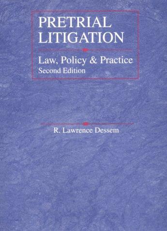 9780314067753: Pretrial Litigation: Law, Policy and Practice (American Casebook Series)