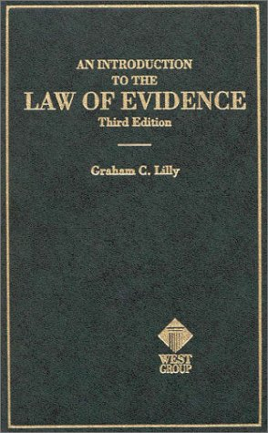9780314067814: An Introduction to the Law of Evidence (Hornbooks)