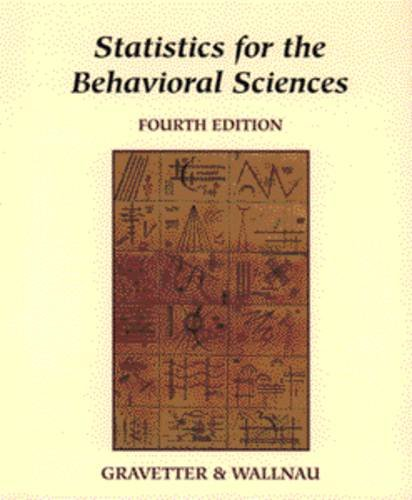 9780314068064: Statistics for the Behavioral Sciences