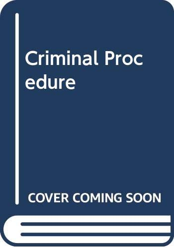 9780314068705: Criminal Procedure