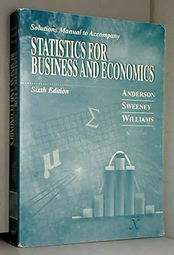 9780314085887: Statistics For Business and Economics