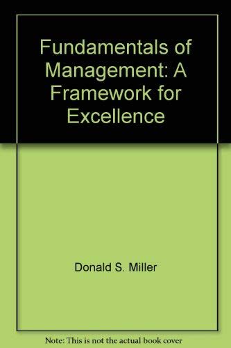 9780314090133: Fundamentals of management: A framework for excellence