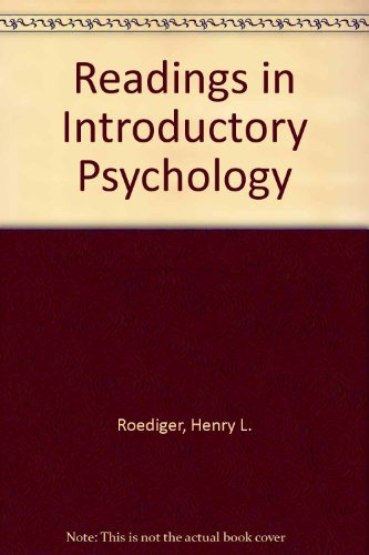 Readings in Introductory Psychology : Henry L. Roediger,