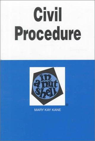 9780314093981: Civil Procedure in a Nutshell (In a Nutshell (West Publishing))