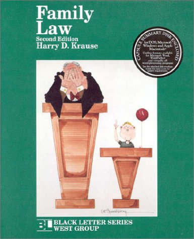 9780314097095: Family Law (Black Letter Series)