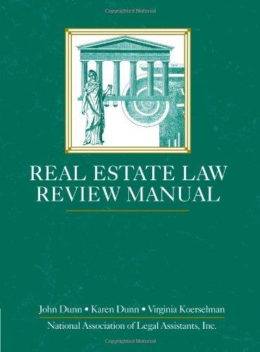 9780314098481: Real Estate Law Review Manual