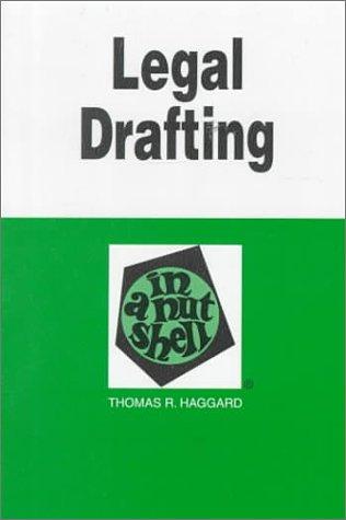 9780314098535: Legal Drafting: In a Nutshell (Nutshell Series)