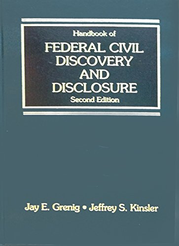 9780314102447: Handbook of federal civil discovery and disclosure