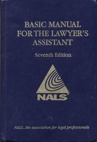 9780314107473: Basic Manual For The Lawyer's Assistant