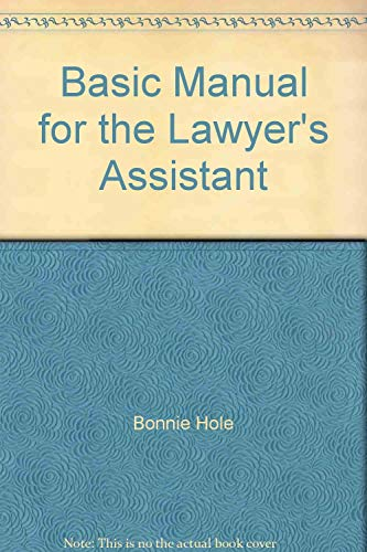 9780314107480: Basic Manual for the Lawyer's Assistant