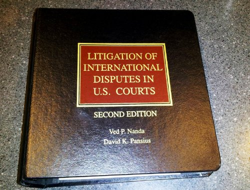 9780314110657: Litigation of international disputes in U.S. courts