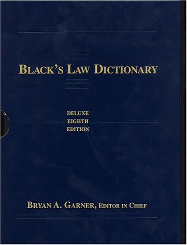 9780314118769: Black's Law Dictionary, Deluxe Edition in Slipcase