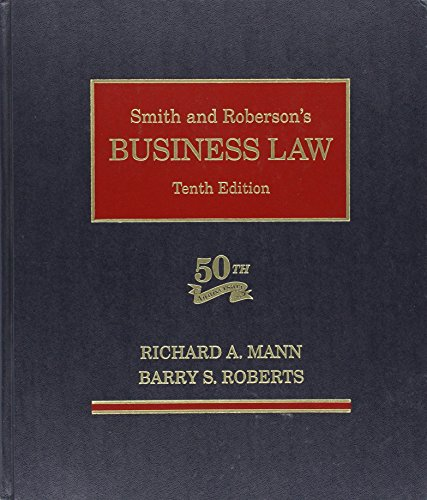 9780314140807: Smith and Roberson's Business Law (2nd Printing)