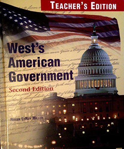 9780314141170: West's American Government, Second Edition: Teacher's Edition