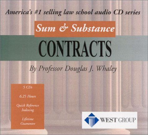 9780314143822: Sum & Substance Audio on Contracts