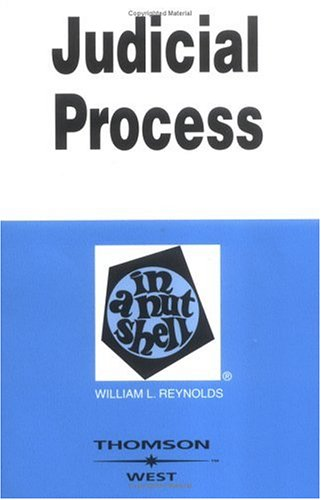 9780314144218: Judicial Process in a Nutshell (In a Nutshell (West Publishing))