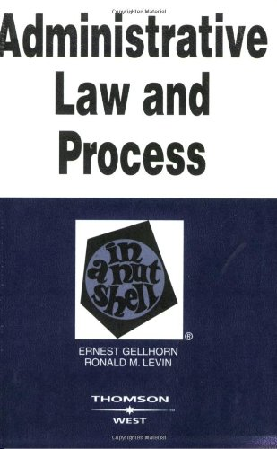 9780314144362: Administrative Law and Process: In a Nutshell (Nutshell Series)