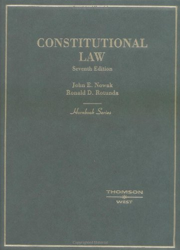 9780314144522: Constitutional Law (Hornbook Series) (Hornbook Series Student Edition)
