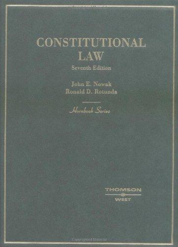 9780314144522: Constitutional Law (Hornbook Series)