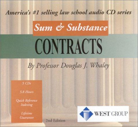 "9780314144683: Contracts (Sum & Substance Cd's ""Outstanding Professor""Series)"