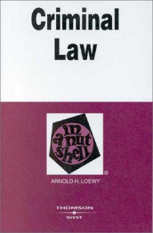 9780314145185: Criminal Law in a Nutshell (Nutshell Series)