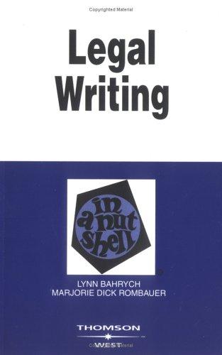9780314145802: Legal Writing in a Nutshell (Nutshell Series)