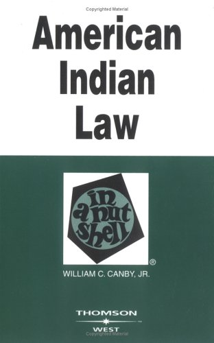 9780314146403: American Indian Law in a Nutshell (Nutshell Series)