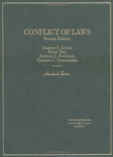 9780314146458: Conflict of Laws (Hornbook Series and Other Textbooks)