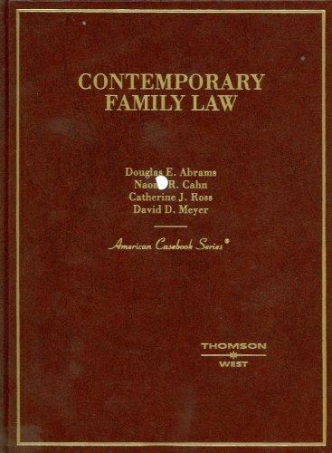 Contemporary Family Law: Douglas E. Abrams;