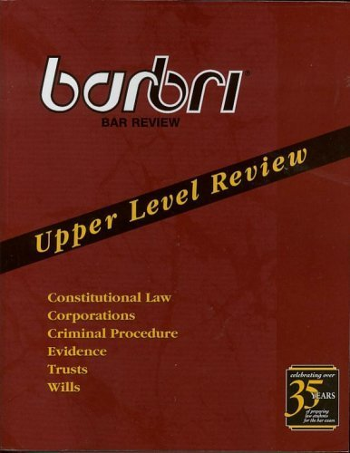 9780314148803: barbri Bar Review - Upper Level Review