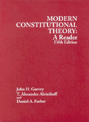 9780314149053: Modern Constitutional Theory: A Reader 5th Edition
