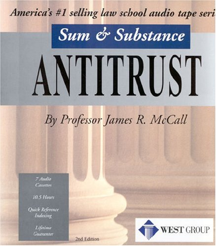 9780314149930: Mccall's Sum And Substance Audio Set on Antitrust
