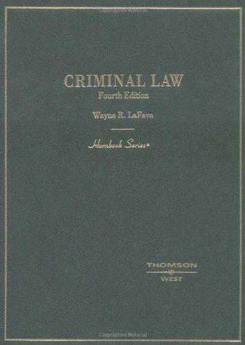 9780314149978: Criminal Law (Hornbook Series)