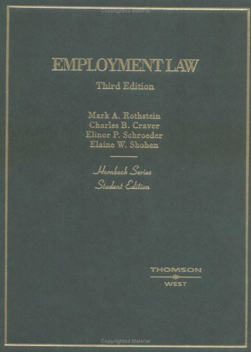 9780314150288: Employment Law, Student Edition (Hornbook Series)