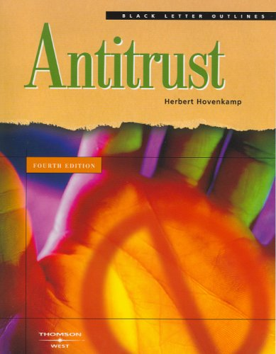 9780314150448: Black Letter Outline on Antitrust (Black Letter Outlines)